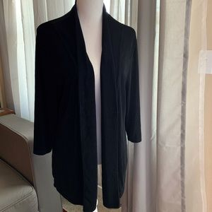 Chico's Travelers Open Front Black Cardigan